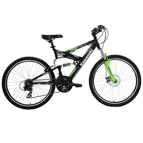 Kawasaki DX Full Suspension Mountain Bike, 26 inch Wheels, 19 inch ...